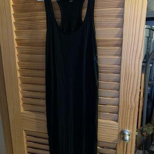 FOX XL long black tank dress